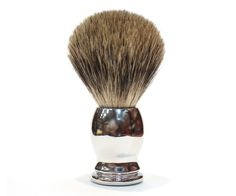 The Ice Chrome Pure Badger brush. The only mix in this brush the blend between affordability and quality. The all badger hair brush head soaks and retains water for the best lather around. Available at House of Knives. Shaving Brush, Wet Shaving, Shaving Cream, Best Shave, Shaving & Grooming, Hair Brush, Chrome, Pure Products