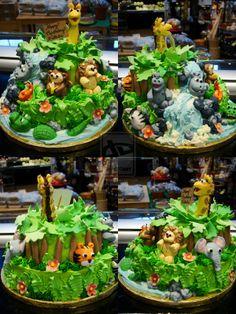 Jungle Animal Cake -All Angles by Erisana.deviantart.com on @deviantART