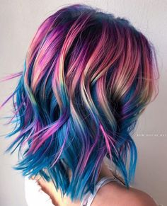 55 Fabulous Rainbow Hair Color Ideas - Rainbow Hair Ideas For Brunette Girls . 55 Fabulous Rainbow Hair Color Ideas - Rainbow Hair Ideas For Brunette Girls — No Bleach Required ★ - color girl Brunette Girls, Mermaid Hair Brunette, Hair Color Brunette, Blonde Brunette, Blonde Hair, Pulp Riot Hair Color, Pretty Hair Color, Amazing Hair Color, Fun Hair Color