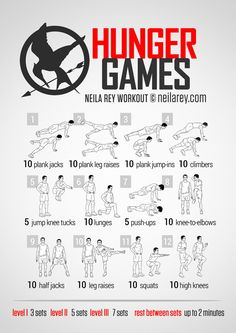 For PE with my fifth graders - Hunger Games Tribute Workout | neila rey