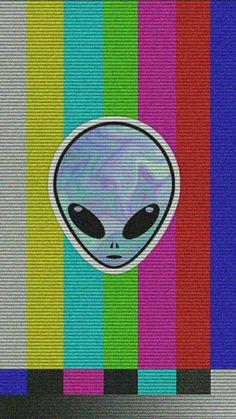 alien in TV error wallpaper Tumblr Wallpaper, Et Wallpaper, Trippy Wallpaper, Aesthetic Iphone Wallpaper, Screen Wallpaper, Mobile Wallpaper, Aesthetic Wallpapers, Alien Iphone Wallpaper, Wallpaper Samsung