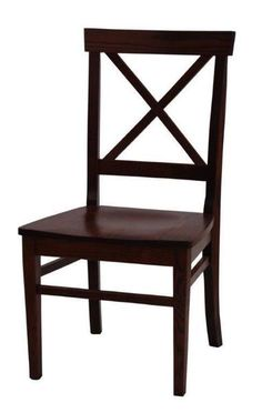 Amish Ace X Back Dining Chair Dynamic designs from Amish country! Ace X Back dining chairs are crafted for comfort. You pick the custom options that best match your kitchen or dining room.