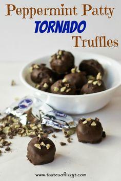 Peppermint Patty Tornado Truffles