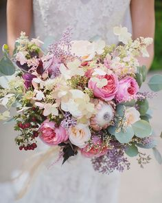 20 Mixed Pastel Wedding Bouquets   SouthBound Bride   http://www.southboundbride.com/20-mixed-pastel-wedding-bouquets   Credit: Maria Longhi Photography/The Little Branch via Style Me Pretty