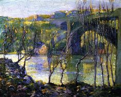 Ernest Lawson painting of Washington Bridge Harlem River