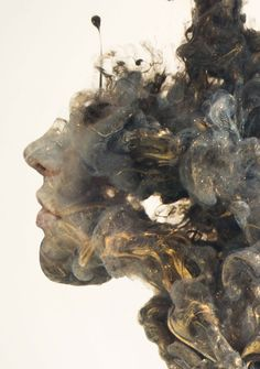 Surreal Double Exposures of Faces Blended Into Plumes of Ink in Water «TwistedSifter