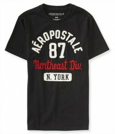 Camiseta Aeropostale Men's Northeast Division Graphic T Black #Camisetas #Aeropostale