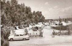 >FOTOGRAFÍAS INÉDITAS DE LA HISTORIA DE ALICANTE (II)   alicantevivotest. Camping en La Albufereta. Quedó arrasado en las inundaciones de 1982.