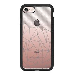 Ab Lines 45 Grey Transparent - iPhone 7 Case, iPhone 7 Plus Case,... ($40) ❤ liked on Polyvore featuring accessories, tech accessories, iphone case, transparent iphone case, iphone cover case, apple iphone case and iphone cases