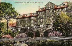 Buck Hill Falls Pennsylvania PA 1930s North Front The Inn Albertype Postcard