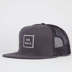 Rvca Va All The Way Ii Mens Trucker Hat Charcoal One Size For Men 21544311001