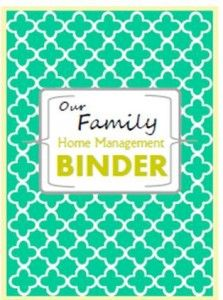 Really cute home management binder covers! And they are FREE!