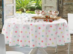 Dots colores pastel, bello para celebraciones con niños y lo mejor tecnología Siempre Limpia. Adios a las manchas