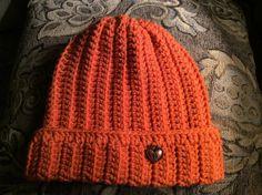 Lady's or teen beaniehand crochet burnt by Yarnhotoffthehook