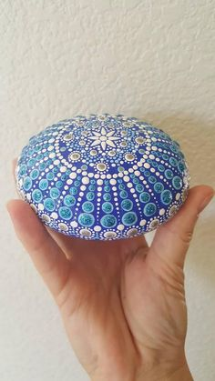 This happy and bright painted stone, will be sure to add CHEER to any room of your house. Also a great way to spice up your office, home, or garden decor. The acrylic paint has been sealed with a protective spray finish.