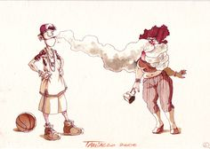 """""""No smoking style"""" #stefanotamiazzo #cartoon #humor #illustration #smoke"""