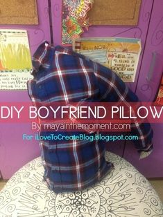 …or you can just DIY your own for under $10 bucks with this tutorial from Maya! | Make Your Own DIY BoyfriendPillow