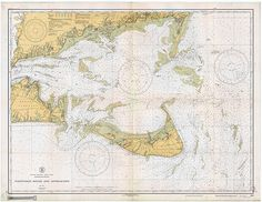 Historical NOAA Chart of Nantucket Sound and by HyannisMarina