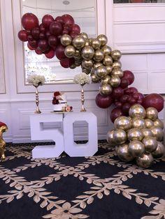 Alter 50 Schwarz /& Silber Froh 50th Birthday Party Artikel Dekoration