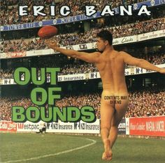 Eric Bana 'Out of Bounds'. Worst Album Covers, Rock Album Covers, Star Trek Reboot, Eric Bana, Bad Album, All Blacks, Steven Spielberg, Recorded Books, Book Cover Art