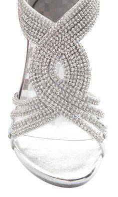 27170fe00 OLIVIA K Women's Open Toe Strappy Rhinestone Dress Sandal Low Heel Wedding  Shoes ***