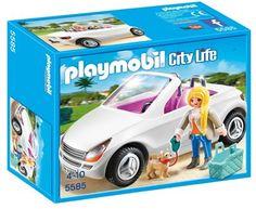 Cabriolet Chic de Playmobil Réf : 5585 moins cher en ligne. Age : 4 ans ,  Sexe : Fille  Comparez son prix chez 4 vendeurs en ligne .