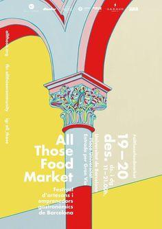 Food Market Poster Design - Event Poster Design In Event Poster Design, Poster Design Inspiration, Graphic Design Posters, Graphic Design Typography, Food Poster Design, Event Posters, Poster Ideas, Book Design, Cover Design