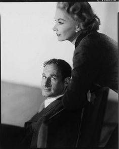 Irving Penn with his wife, model Lisa Fonssagrives, 1951.