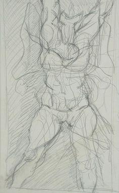 Antonio BONILLA : Boceto de una mujer gritando ; circa 1982-84 ; lápiz sobre papel ; 23,5cm x 21,5cm ; colección MDAA ; adquirido del artista en 1987