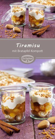Tiramisu mit Bratapfel-Kompott: Ein cremiges Dessert mit Bratapfel-Kompott