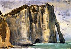 Falaises d Etretat - (Eugène Delacroix)
