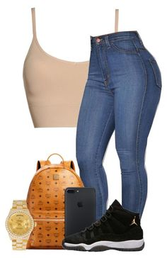 """Untitled #33"" by jordyghicks on Polyvore featuring Halogen, MCM and Rolex"