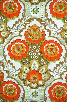 Floral wallpaper retro floral wallpaper behang met bloemen vintage behang - Papier peint vintage ...