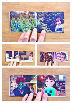 Mini books with Instagram photos