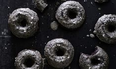 Lemon and Black Sesame Baked Doughnuts   If you need a break from rainbow-smattered sweets and unicorn-coated everything, these deliciously dark doughnuts are exactly what you're looking for. A bright lemony glaze balances the warm toasty flavors delivered by black sesame seeds for a balanced, not-too-sweet doughnut. Being an oven-baked doughnut, this recipe is perfect for the first-time doughnut maker or anyone who's not trying to spend their Saturday morning cleaning up a deep-fry station…