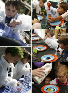 Mad scientist party.  Cute class idea!