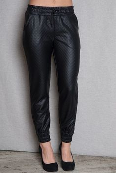 Joggers black with swag outfits