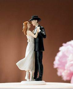 Cowboy wedding cake topper! #wedding #cake #topper