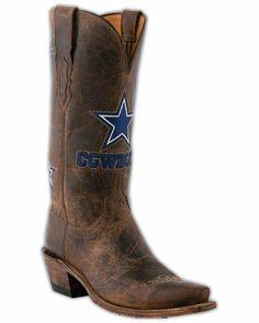 Women's Dallas Cowboys Tan Madras Boots