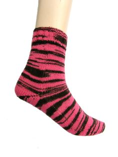 Socks Zoofari Pink  EU size 35/36  US size by Carolinevantveer, $20.00
