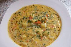 Rezept: Allgäuer Kartoffelsuppe mit Lauch und Kräutern