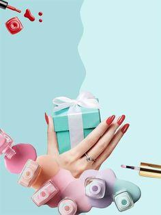Para regalar o regalarte! Con esmaltado común o semipermanente! Nail Salon Design, Nail Salon Decor, Gel Nail Designs, Nail Logo, Magical Makeup, Pink Paper, Nail Bar, Fabulous Nails, Beauty Nails