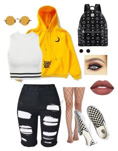 """""""🌼🌼♠️♠️"""" by eloarmy on Polyvore featuring WithChic, Pilot, Vans, MCM, Hakusan and Humble Chic"""