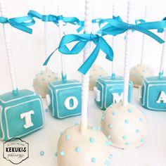 Baby shower named cake pops #babyshower #named #cakepops #brownie #pastry #decoratedpastry #decorated #sweet #pasteleria