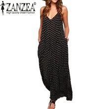 Zanzea 2016 Zomerjurk Mode Vrouwen Strapless Stip Casual Losse Lange Maxi Jurk Sexy Beachwear Katoen Vestidos Plus Size(China (Mainland))