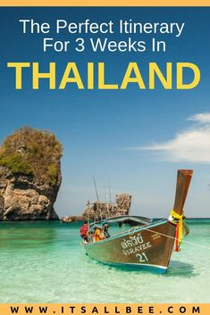 The Perfect 3 Weeks Thailand Itinerary - Tips on planning a trip to Thailand. The best beaches, tours, hotels, what to pack for a trip to Thailand and how much money to take.