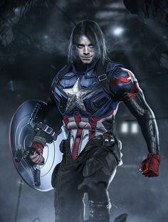 Captain Winter Soldier. Fan art by BossLogic