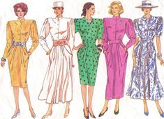 80s Vogue Basic Design Sewing Pattern 1796 Womens by CloesCloset