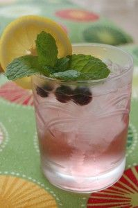 blueberry and mint infused vodka - little lemon - little soda.
