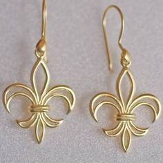 Fleur de lis earrings.